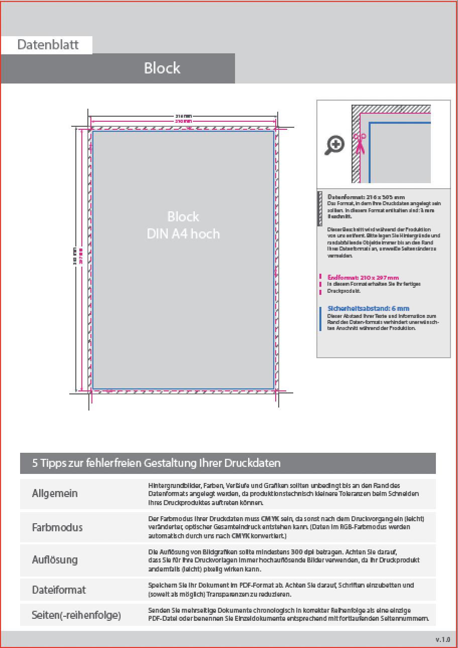 Blöcke mit Leimbindung – perfectPRINTS – Einfach online Drucken!
