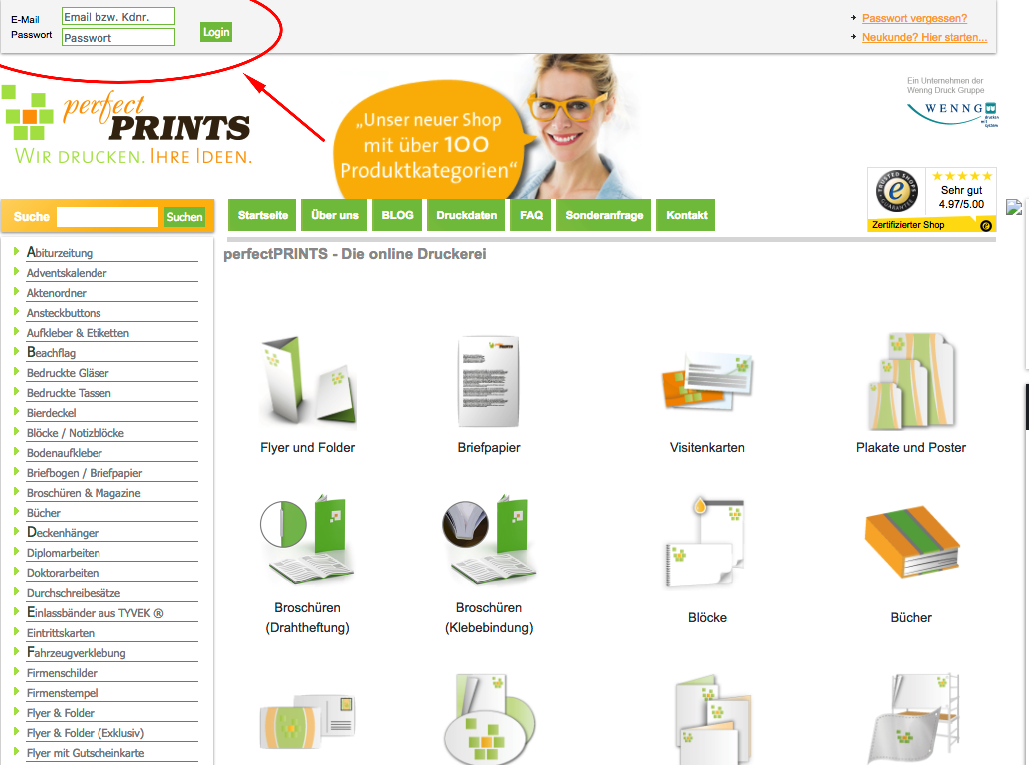 Faq shop perfectprints einfach online drucken for Fresh home login